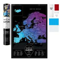 Карта travel map black europe, 1DEA.me