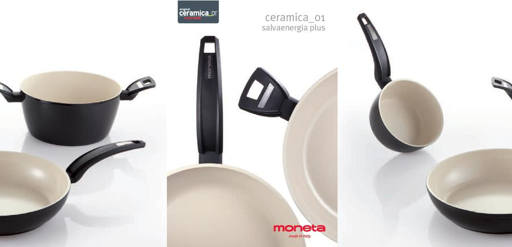 Кастрюля MONETA Salvaenergia Plus Ceramica 24 см