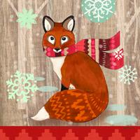 Салфетки бумажные Fox with Scarf 20 шт., Paperproducts Design
