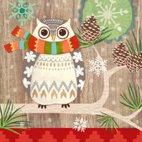 Салфетки бумажные Owl with Scarf 20 шт., Paperproducts Design