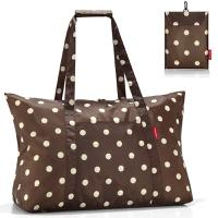Сумка складная mini maxi travelbag mocha dots, Reisenthel
