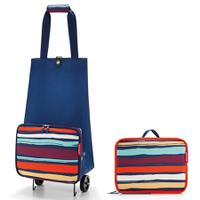 Сумка на колесиках Foldabletrolley artist stripes, Reisenthel