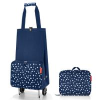 Сумка на колесиках foldabletrolley spots navy, Reisenthel
