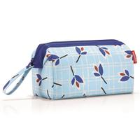 Косметичка travelcosmetic leaves blue, полиэстер, Reisenthel
